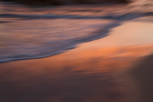 Reflection of the rising sun in the wet sand at SW Rock. This is a slow shutter speed shot. Loving this Abstract workshop.